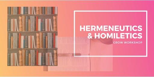 Hermeneutics & Homiletics