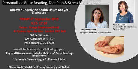 Pulse Reading, Diet Plan & Stress Management tickets