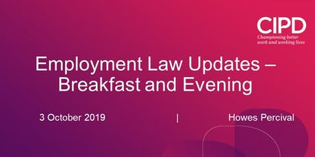 Employment Law Update - Breakfast Session tickets