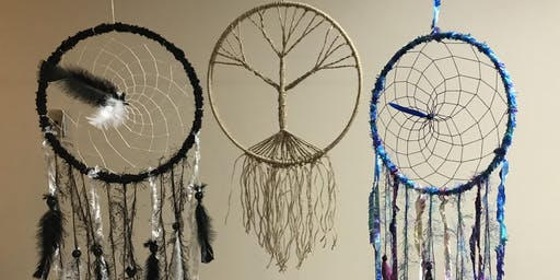 Make your own dreamcatcher, with a natural crystal of your choice!