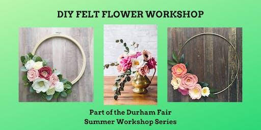 Durham Fair Felt Flower Wreath Workshop