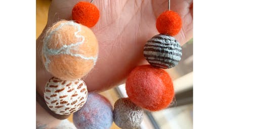Felted Bead Jewellery Workshop Lifestyle Collective