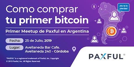 Cómo comprar tu primer bitcoin | 1er meetup de Paxful en Argentina entradas
