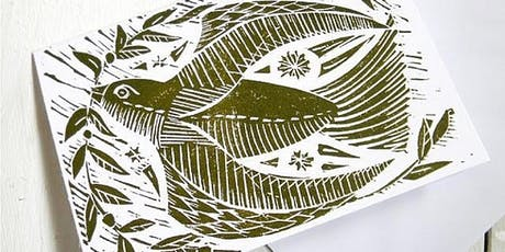 Lino Cut & Print Christmas Cards at Wild Flowers tickets