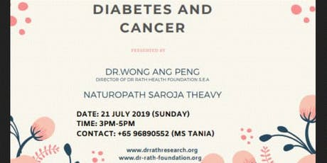 Diabetes & Cancer tickets
