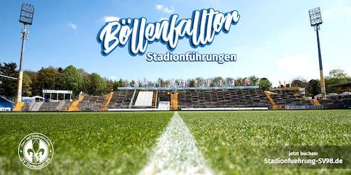Spezial-Stadionführung am Böllenfalltor vor dem Spiel gegen Kiel