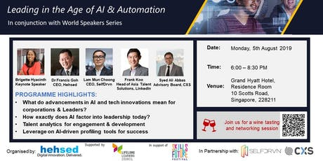 Leadership Master Series - Leading in the Age of AI & Automation tickets