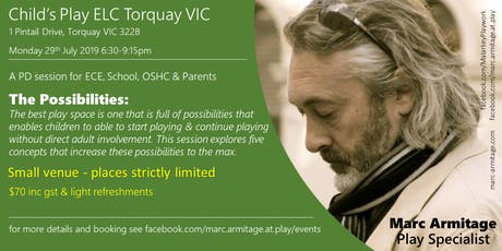 The Possibilities: five concepts that promote independent playing - Torquay tickets