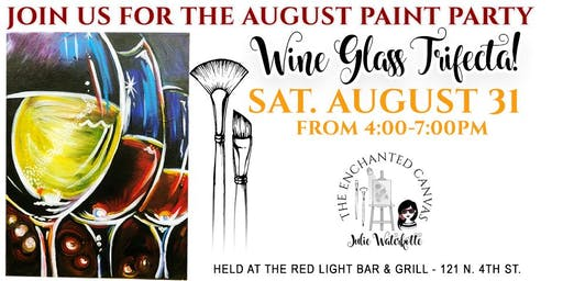 August Paint Class ~ Wine Glasses
