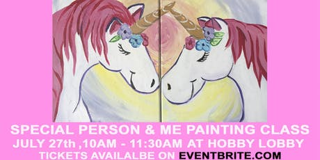 Special Person and Me Unicorn Painting Class tickets