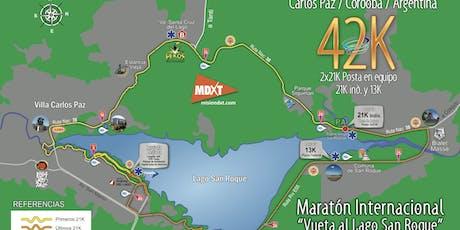 Traslados Maratón Internacional Vuelta al Lago San Roque.  entradas
