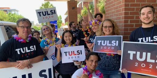 Sign Waving for Tulsi2020!
