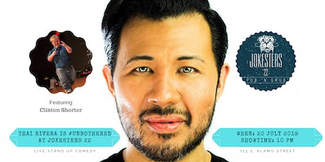 Thai Rivera is #Unbothered at Jokesters 22 : Live Stand Up Comedy tickets