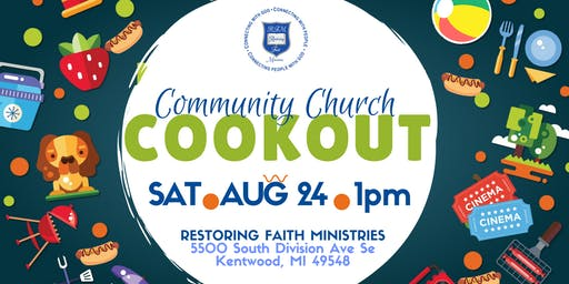 2nd Annual Community Church Cookout