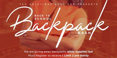 Back to School Backpack Bash  tickets