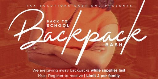 Back to School Backpack Bash