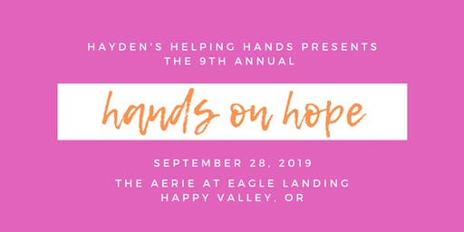 9th Annual Hands on Hope Benefit