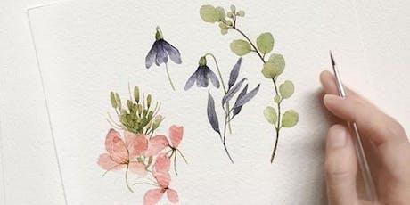 Watercolor Florals Workshop tickets