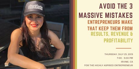 Avoid the 3 Mistakes Entrepreneurs make keeping them from Being Profitable! tickets