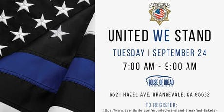 """UNITED WE STAND"" BREAKFAST   tickets"