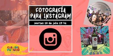 Fotografía para instagram entradas