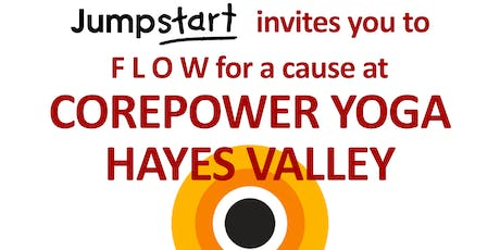 Flow for a Cause with Jumpstart and CorePower Yoga tickets
