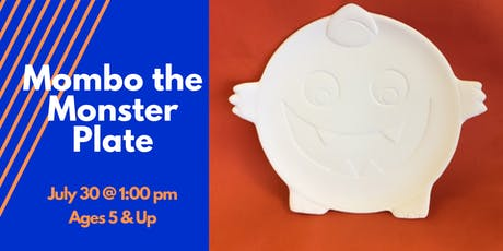Mombo the Monster Plate (Ceramic Painting for Children) tickets