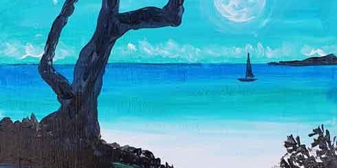 MOONLIGHT IN THE BAY BRUSH AND TIPPLE 8 OCT