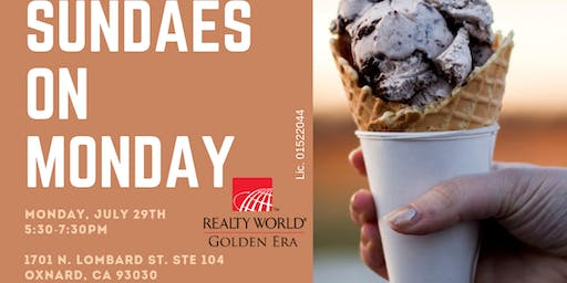 Sundaes on Monday,  a sweet event to strategize your Real-Estate GOALS!