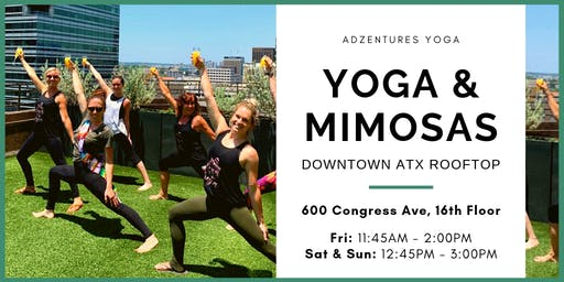 Yoga & Mimosas - Outdoor Rooftop, Downtown