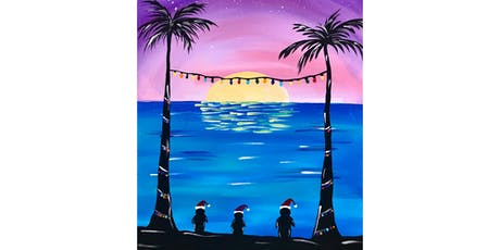 """Christmas in July Open Paint (13yrs+) """"Penguins at Sunset"""" tickets"""
