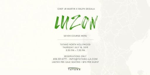 LUZON pop-up with Chef JR Martin and Ralph Degala (MasterChef)