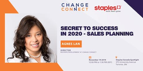 Staples x Change Connect Lunch and Learn - Secret to Success in 2020: Sales Planning tickets
