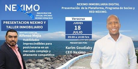 PRESENTACIÓN NEXIMO Y TALLER INMOBILIARIO VERACRUZ boletos