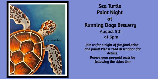 Sea Turtle Paint Night at Running Dogs Brewery