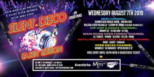 SILENT DISCO (Laser Edition) Artwalk After Dark at Myth Nightclub | 08.07.19