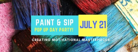 Paint & Sip Pop Up Day Party by Scott Terry & Shonda Locs