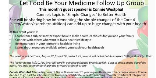 8-8-19 Let Food Be Your Medicine Follow Up Group