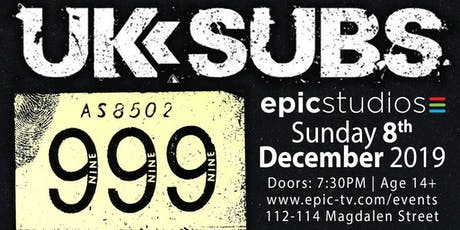 UK SUBS + 999 (special xmas show) tickets