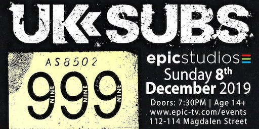 UK SUBS + 999 (special co-headline show)