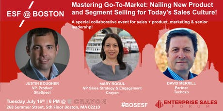 Mastering Go-To-Market: Nailing New Product and Segment Selling tickets
