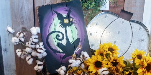SpOokY Cat Paint Night