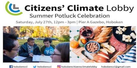 Summer Potluck Celebration - Citizens' Climate Lobby  - Hoboken Chapter tickets