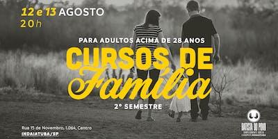 CURSOS DA FAMÍLIA  | 2º SEMESTRE