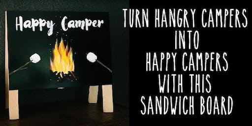 Happy Camper Sandwich chalkboard/whiteboard