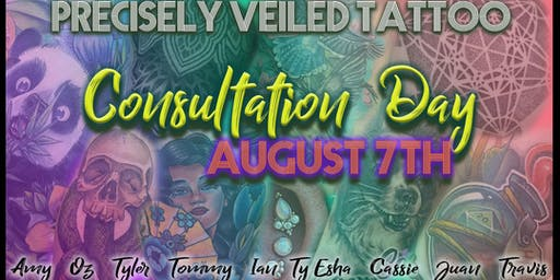 Tattoo Appointment Consultation Day August 7th  9am-8pm