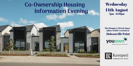 YouOwn Co-Ownership Information Evening - Kerepeti, Hobsonville Point