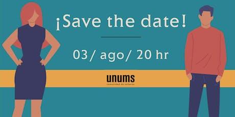 Lanzamiento UNUMS comunidad de solteros tickets