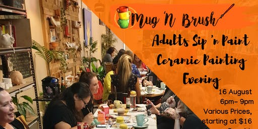 Adults BYO Ceramic Painting evening - 2nd event!