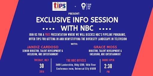 Exclusive Info Session w/ NBC